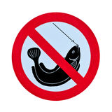 No fishing warning sign Royalty Free Stock Image