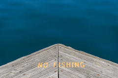 No Fishing Warning Sign Stock Photo