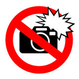 No flash photography sign Stock Images
