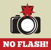 No flash sign Royalty Free Stock Photos