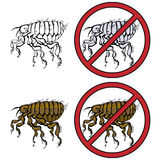 No Fleas Vector Prohibition Sign Royalty Free Stock Photos