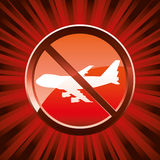 No flights warning Royalty Free Stock Photo