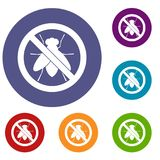 No fly sign icons set Royalty Free Stock Photo