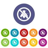 No fly sign set icons Royalty Free Stock Image