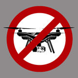 No fly zone airdrone quadrocopter Stock Photos