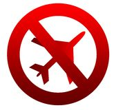 No flying aircraft sign Royalty Free Stock Photography