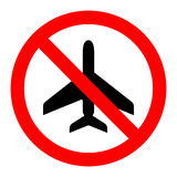No flying No plane icon great for any use. Vector EPS10. Stock Photography