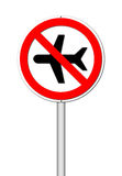 No flying  on white Stock Photography