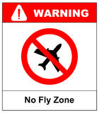 No flying on white background,prohibit sign vector Stock Photography