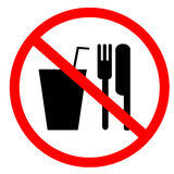 No food and drink sign Stock Photography