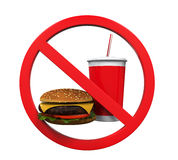 No Food and Drink Sign Stock Images