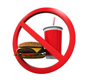 No Food and Drink Sign Stock Photo