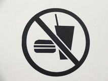 No food or drinks aloud Stock Photos