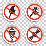 No food and ice cream signs on white round plate Royalty Free Stock Image