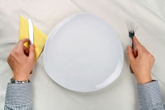No food on the plate! Royalty Free Stock Photography