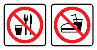 No food sign collection vector illustration