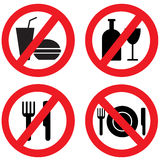 No Food Sign. Stock vector picture - No Food Sign Royalty Free Stock Photos