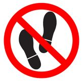 No foot allowed. In this area symbol Stock Photo