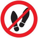No foot sign stock illustration