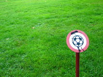 No Football Please!!. No Football Allowed sign Royalty Free Stock Photo