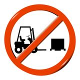 No forklift truck Royalty Free Stock Image