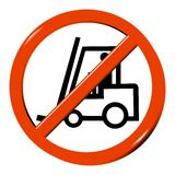 No forklift truck sign Stock Image