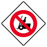 No forklift truck sign royalty free stock photos