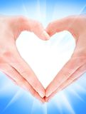 No formulário do coração Imagem de Stock Royalty Free