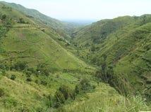No Fort Portal - o Bundibugyo - a Lamia Road, Uganda fotografia de stock royalty free