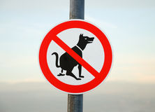 No Fouling Sign. Dog sky Stock Photography