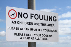No fouling sign. Royalty Free Stock Photo