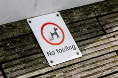 No fouling sign Royalty Free Stock Photography