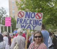 No Fracking Way Stock Image