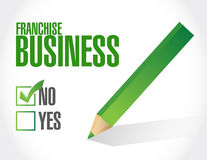 no franchise business check sign Royalty Free Stock Images