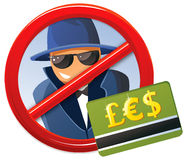 No fraud!. Fraud and scam conceptual image royalty free illustration