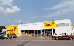No Frills Store in Canada stock photography