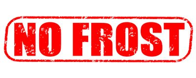 No frost stamp on white background. No frost stamp isolated on white background Royalty Free Stock Image