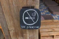 No fume la muestra Fotografía de archivo libre de regalías
