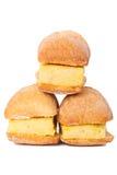 Sanduíches pequenos da tortilha espanhola (omeleta) imagens de stock royalty free