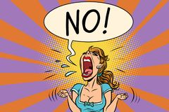 Free No Furious Screaming Woman Royalty Free Stock Photos - 103184768