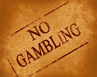 No gambling Stock Photo