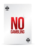 No gambling playing card Stock Photo
