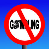 No gambling sign Royalty Free Stock Image