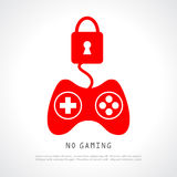 No gaming. Vector poster illustration Stock Photography