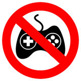 No gaming sign Stock Photos