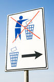 No garbage sign Royalty Free Stock Photos