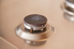 No gas in kitchen combust burner Royalty Free Stock Photography