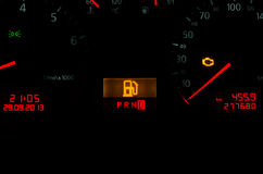 No Gas Dashboard interior Royalty Free Stock Photos
