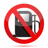 No gasoline. no fuel pump sign Stock Photos