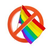 No gay and lesbian flag. On a white background Royalty Free Stock Image